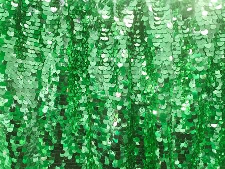 Round glitter green sequin texture