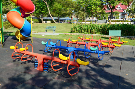 Colorful Children Playground In Public Park Stock fotó - 115460558