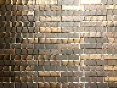 Luxurious brown and gold ceramic tile wall for background Stock fotó