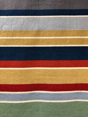 Colored stripe carpet texture and background