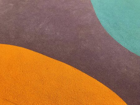 Curved colorful safety rubber floor mat in playground, texture and background Reklamní fotografie