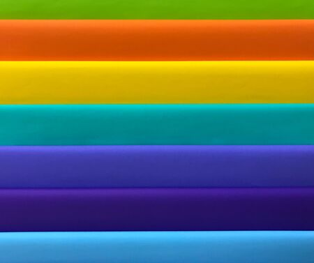 Rainbow or colorful paper panel, background and texture concept Stok Fotoğraf