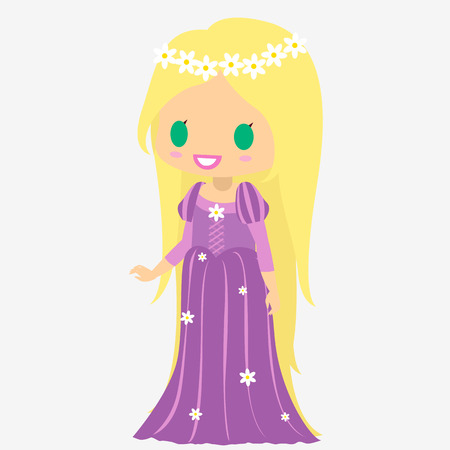 rapunzel: Princess long hair. Princess. Fairy tale character. Long blond hair princess.