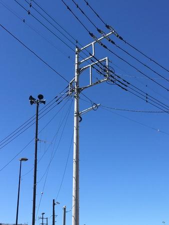 bluesky: Electric pole
