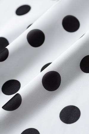 Black dot pattern white cloth