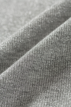 close up of Gray knitted with lame