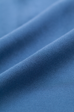 Close up of blue cloth