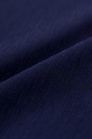 close up of Navy crepe material