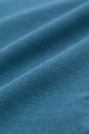 Close-up of turquoise blue cloth 写真素材