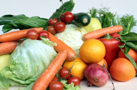 fruit and fresh vegetables photo