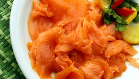 saumon fum�: saumon fum� Banque d'images