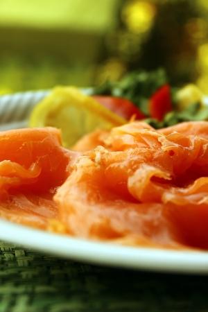 saumon fum�: saumon fum? Banque d'images