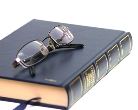 glasses and book photo