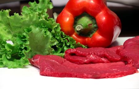 steak cru: raw steak
