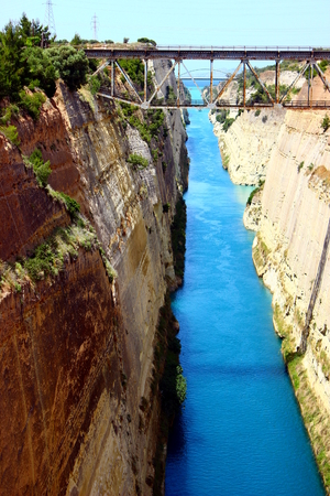 Corinth channel in Greece photo