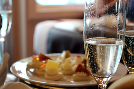 wine and canapes photo