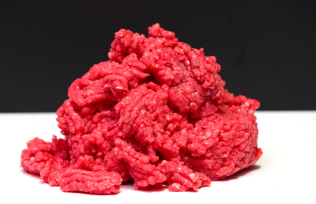veal sausage: raw meat in closeup shot