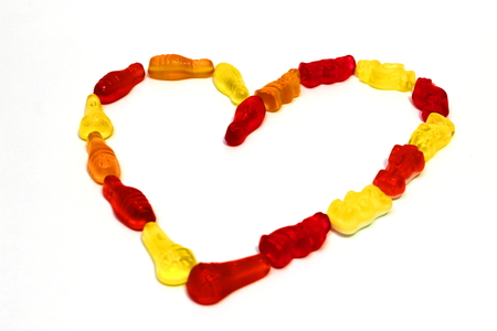 rubbery: heart of candies Stock Photo