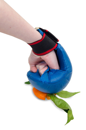 punch with glove photo