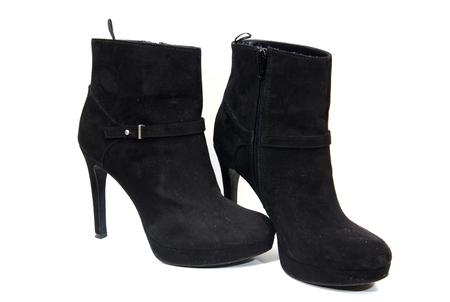 seductive couple: shoes Stock Photo