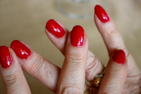 nails: red nails