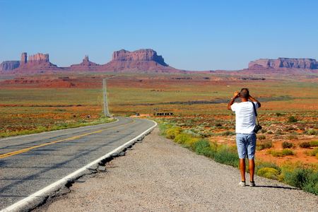monument valley view: Monument Valley Stock Photo