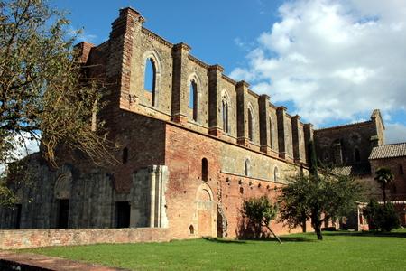 desecrated: San Galgano abbey, Italy