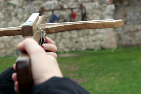 crossbow: shooting with crossbow
