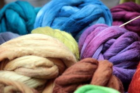 hank: hank  wool Stock Photo