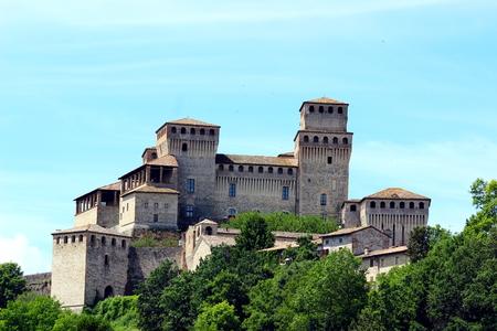 Torrechiara castle Stock Photo