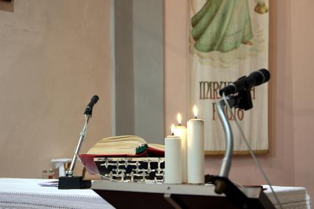 Lutrin dans l'église