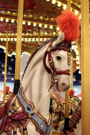 paarden carrousel Stockfoto