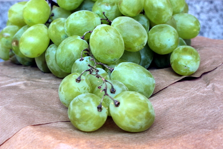 fresh green grapes Stockfoto