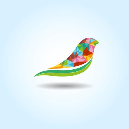 Bird colorfull vector for icon or logo Ilustração