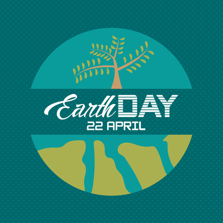 Earth Day poster greet vector