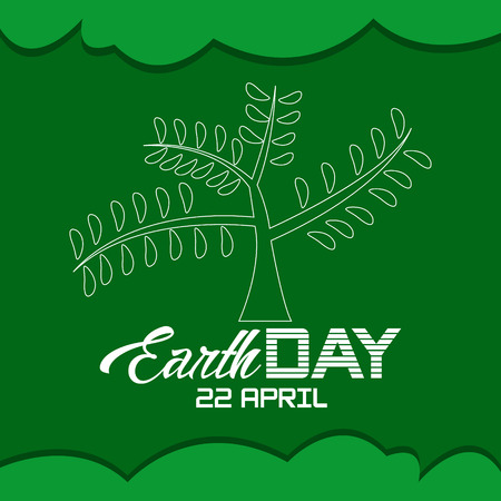 Earth Day April vector
