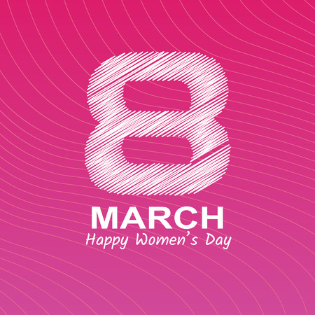 Happy womans day Ilustrace