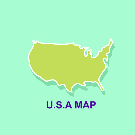 Usa map template. Map design vector