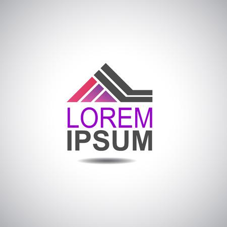 Logotipo de la casa para la imagen del vector de la empresa Logos