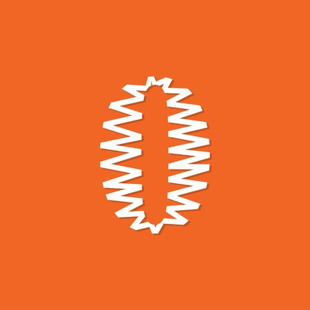 Logo number 0 vector. Abstract logo number