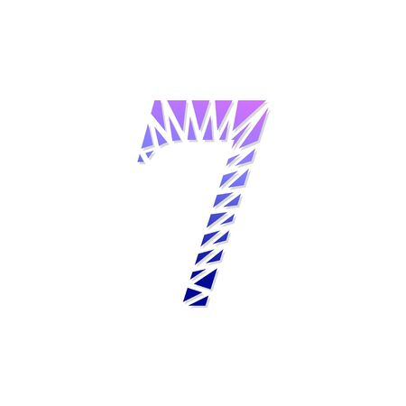 Logo number 7 vector. Abstract logo number Illustration