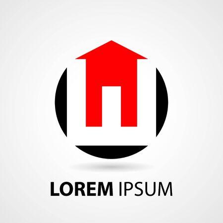 Real estate logo vector. Letter w logo template. Modern house logo Illustration