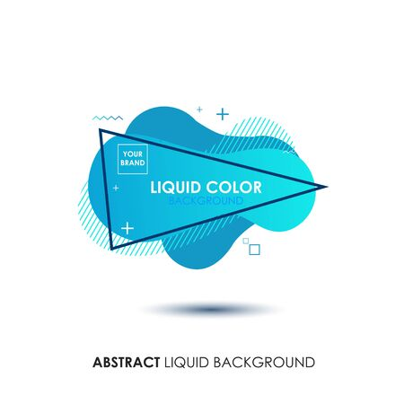 Abstract Liquid Living Coral Color Banner with line Frame and Brand Placing Logo Illustration