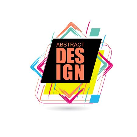 Vector frame for text Modern Art graphics for hipsters. element for design business cards, invitations, gift cards