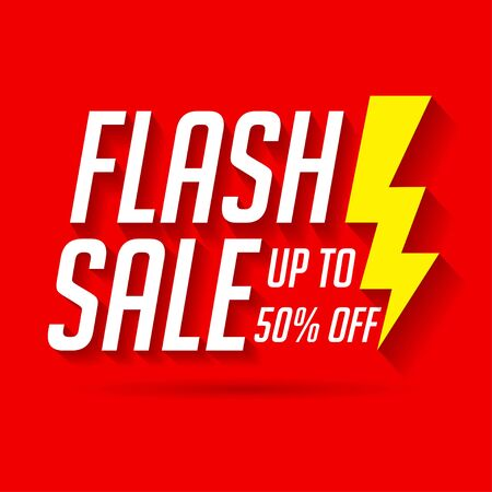 Sale label for banner and poster. Flash sale template