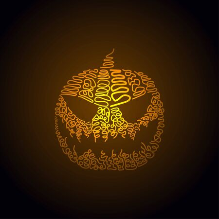 Vector illustration of Halloween pumpkin. hand drawing of Halloween pumpkin Illusztráció