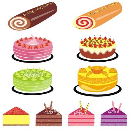 sensational: Vector Cake Collection. Illustration