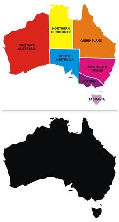 educational material: Vector Australia Map
