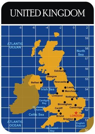 Vector United Kingdom UK Map Illustration