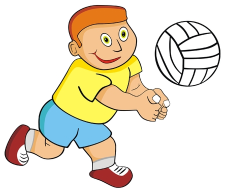 sportingly: VECTOR - Kid Boy Playing Volleyball